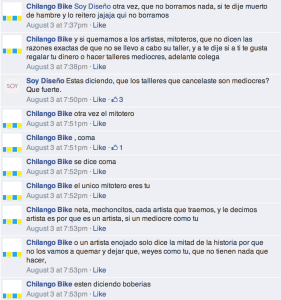 Comentarios en FB de Chilango Bike